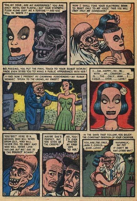 Basil Wolverton Robot Woman Weird Mysteries 002 3_cr