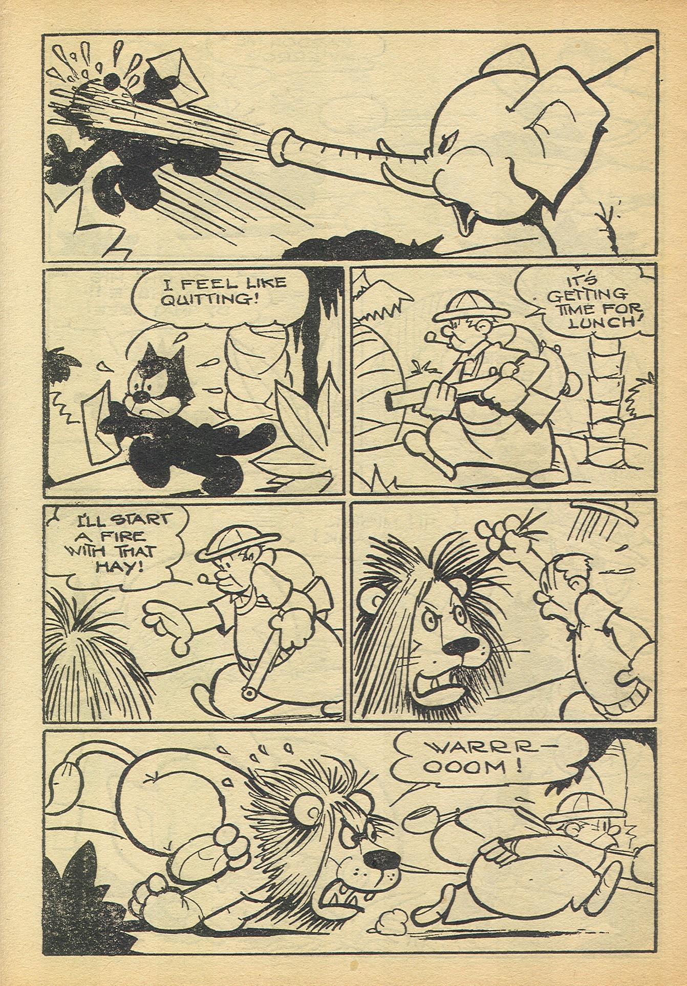Cartoon Snap Felix The Cat Hates His Job Classic Comics
