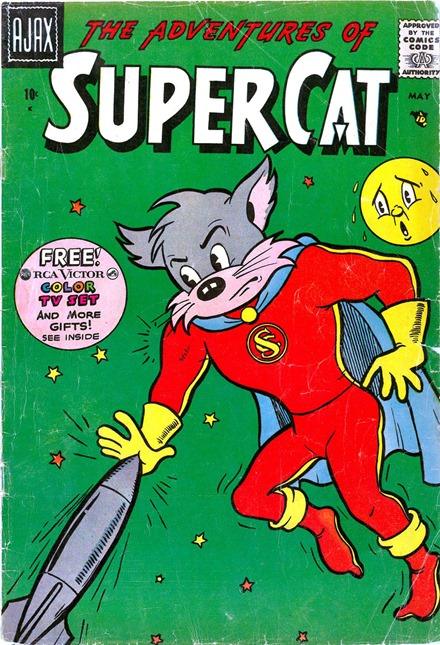 Super Cat Ajax Farrell comic book scans cover