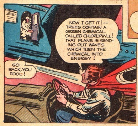 Super hero comic flying car